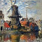 The Windmill Amsterdam Claude Monet 1874 Poster
