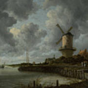 The Windmill At Wijk Bij Duurstede 1668-1670 Poster