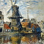 The Windmill On The Onbekende Gracht, Amsterdam 1874 Poster