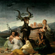 The Witches' Sabbath Poster by Goya