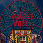 The Wonder Wheel At Luna Park Poster