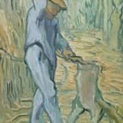 The Woodcutter After Millet Saint Remy De Provence September 1889 Vincent Van Gogh 1853  1890 Poster