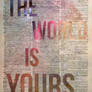 The World Is Yours  Poster