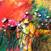 The Yellow River Of The Tour De France Poster