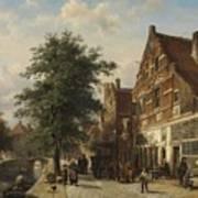 The Zuiderhavendijk, Enkhuizen, 1868 Poster