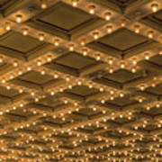 Theater Ceiling Marquee Lights Poster
