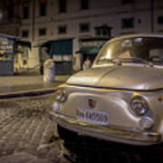 The Fiat 500 Poster