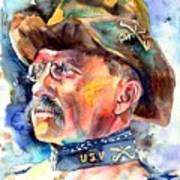 Theodore Roosevelt Painting Poster