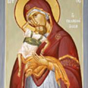 Theotokos Pelagonitisa Poster by Julia Bridget Hayes