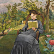 Therese Reading In The Park Of Meric Poster
