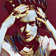 Thinking Frida Poster