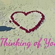 Thinking Of You Card Poster