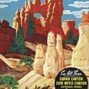 This Summer - Visit Bryce Canyon National Par, Utah, Usa - Retro Travel Poster - Vintage Poster Poster