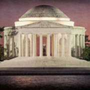 Thomas Jefferson Memorial At Sunset Artwork Poster