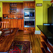 Thomas Kitchen With Old Fashioned Icebox And Refrigerator Poster