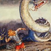 Thor Went Forth Against Jormungand Poster