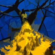 Thorny Tree Blue Sky Poster