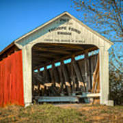Thorpe Ford Covered Bridge Poster