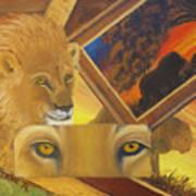 Those Eyes Lion Poster