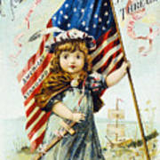 Thread Trade Card, C1880 Poster by Granger