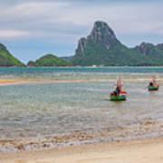 Three Boats Thailand Poster