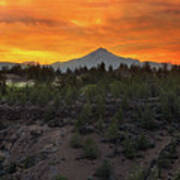 Mount Jefferson At Sunset Poster