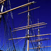 Three Mast Sailing Rig Poster
