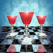 Three Of Cups Poster