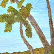 Three Palms At The Beach Poster