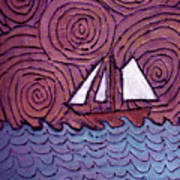 Three Sails And The Wind Poster
