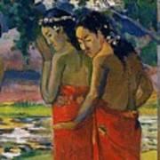 Three Tahitian Women Poster