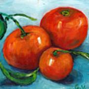 Three Tangerines Still Life Grace Venditti Montreal Art Poster