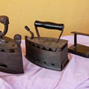 Three Vintage Irons Poster