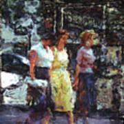 Three Women In Town Poster