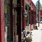 Thrift Shop And Sign In Manitou Springs Poster