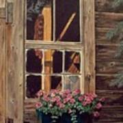 Through The Cabin Window Poster by Lynda  Lawrence