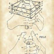 Thumb Wrestling Game Patent 1991 - Vintage Poster