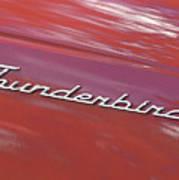 Thunderbird Car Nameplate Poster
