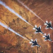 Thunderbirds In Diamond Roll Formation Poster