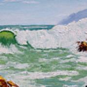 Thundering Surf Poster
