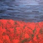 Thunderstorm Over The Poppy Field Poster