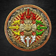 Tibetan Double Dorje Mandala Poster