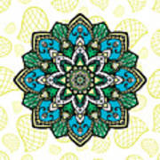 Tibetan Mandala Seamless Pattern Poster