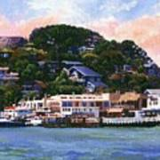Tiburon California Waterfront Poster