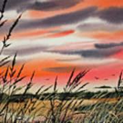 Tideland Sunset Poster