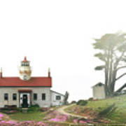 Tides Of Battery Point Lighthouse - Northern Ca Poster