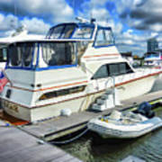 Tidewater Yacht Marina 5 Poster by Lanjee Chee
