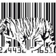 Tiger Barcode Poster by Michael Tompsett