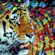 Tiger Big Colors Poster