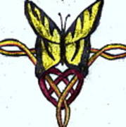 Tiger-butterfly Celtic Double Knot Poster